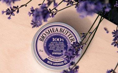 Bio bambucké máslo Sportique Wellness 75 ml - SLEVA blížící se datum spotřeby - Levandule