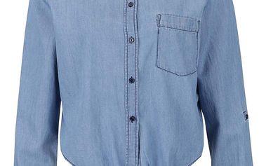 Světle modrá denimová košile s vázáním na uzel Noisy May Erik