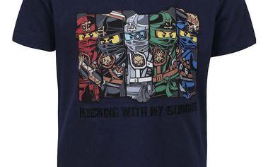 Tmavě modré klučičí triko s potiskem LEGO Wear Teo