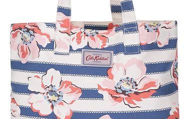Růžovo-krémová pruhovaná taška s motivem květů Cath Kidston