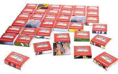 Čokopexeso s vlastními fotografiemi v dárkové kazetě, 36 dílků pravé belgické čokolády.