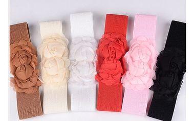 Opasek s růžemi na šaty