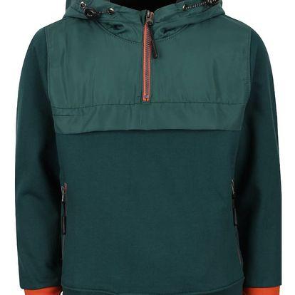Tmavě zelená klučičí bunda s kapucí 5.10.15.