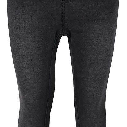 Tmavě šedé holčičí džíny s vyšisovaným efektem name it Tove