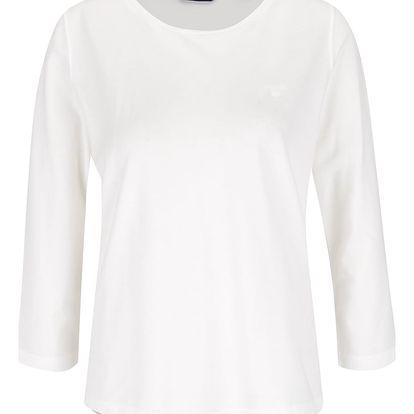 Krémové dámské tričko s 3/4 rukávem GANT Pique