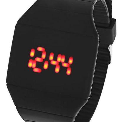 Unisex hodinky s dotykovým LED displejem - černá barva - dodání do 2 dnů