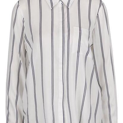 Krémová volná pruhovaná košile VERO MODA Vissa