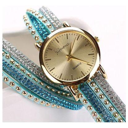 Dámské vícevrstvé hodinky s kamínky - dodání do 2 dnů