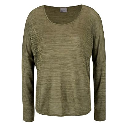 Zelené žíhané tričko VERO MODA Sabisanne