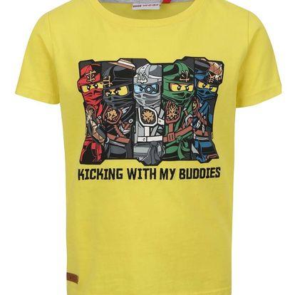 Žluté klučičí triko s potiskem LEGO Wear Teo