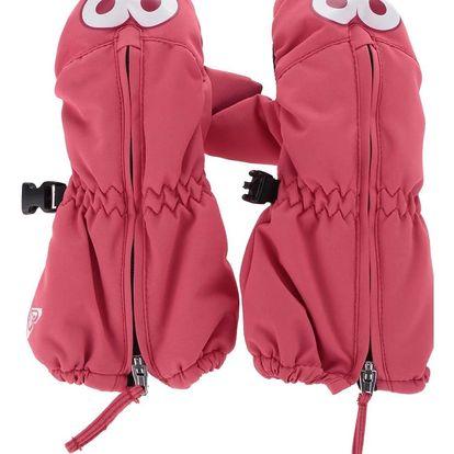 Růžové holčičí zimní rukavice s potiskem Roxy Snow's up