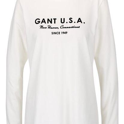 Krémové dámské tričko s dlouhým rukávem GANT