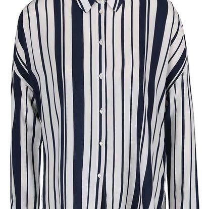 Krémová pruhovaná košile ONLY Zafran
