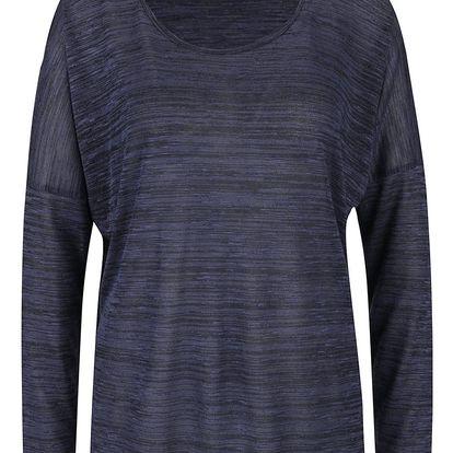Tmavě modré žíhané tričko VERO MODA Sabisanne