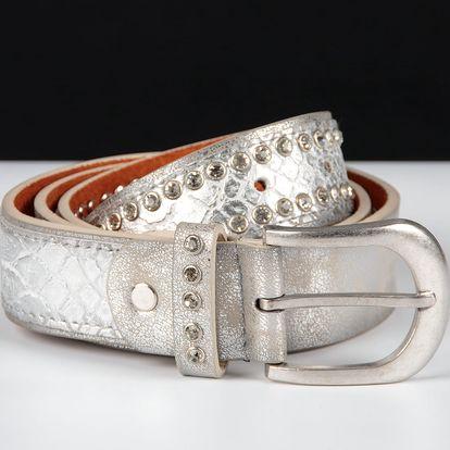 Dámský kožený pásek motiv hadí kůže