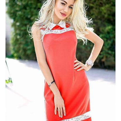Dámské business šaty s límečkem