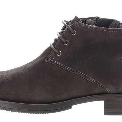 Tmavě šedé dámské semišové kotníkové boty U.S. Polo Assn. Palmira