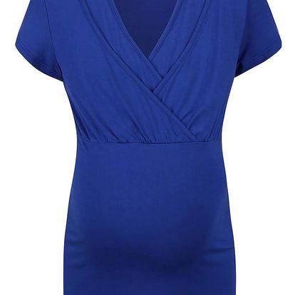 Modré těhotenské tričko Mama.licious Anette