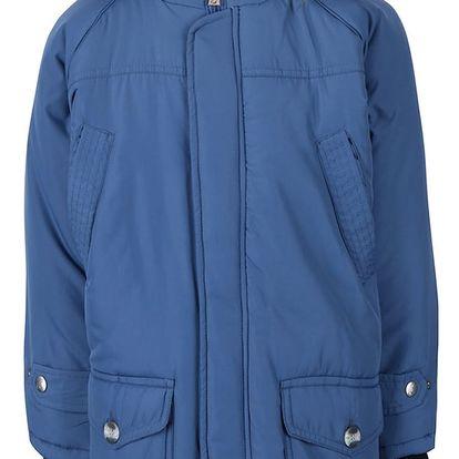 Modrá klučičí bunda s kapucí North Pole Kids