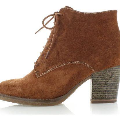 Skořicové kotníkové boty Tamaris 25114
