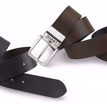 Oboustranný pánský pásek Levi's - AB214826 Černo-hnědý