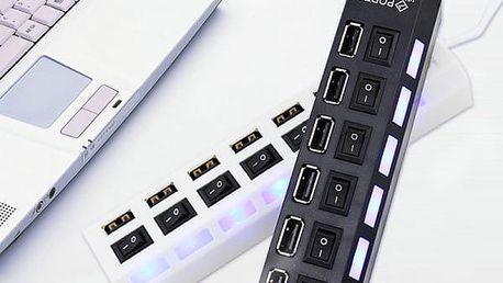 USB HUB se sedmi porty - dvě barvy