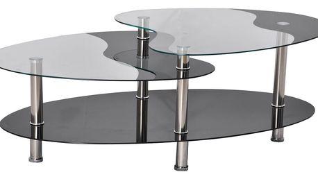 Konferenční stolek BA-5-Oval - černý