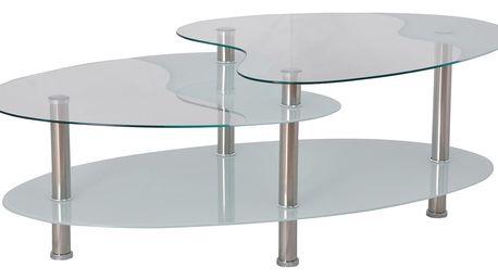 Konferenční stolek BA-5-Oval - bílý