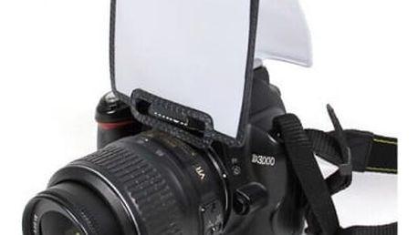 Univerzální difuzér na fotoaparát - Rozptylka pro vestavěný blesk