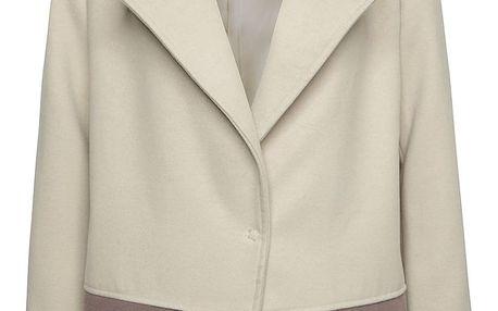 Hnědo-béžový krátký kabát Alchymi Elise
