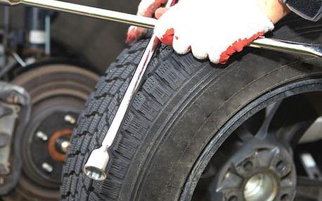 Profesionální přezutí pneu nebo výměna celých kol všech velikostí bez doplatků v Brně.