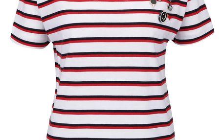 Červeno-bílé volné pruhované tričko Rich & Royal