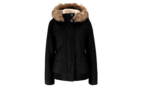Černá dámská bunda s umělým kožíškem Ragwear Wooki