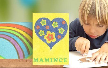 Kreativní sada nejen pro děti: Barevné obrazce z písku