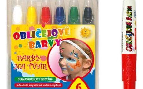 Barvy na obličej - 6 ks - dodání do 2 dnů