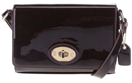 Vínová lesklá crossbody kabelka se sponou Clarks Maria Ann