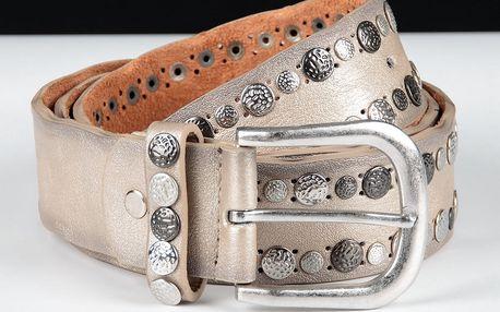 Dámský kožený pásek klasický s kaminky