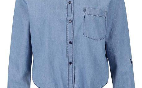 Světle modrá džínová košile s vázáním na uzel Noisy May Erik