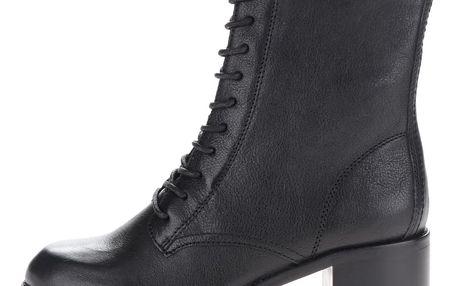 Černé dámské semišové kotníkové boty na podpatku ALDO Crowl