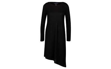 Černá asymetrická tunika s dlouhým rukávem ONLY Elva