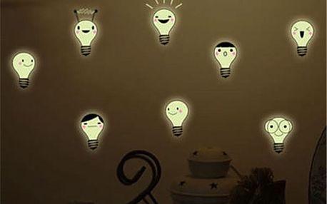 Fluorescenční samolepky - Žárovky