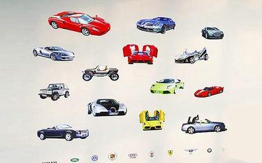 Nalepte.cz Luxusní auta 60 x 33 cm