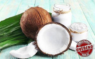 100% kokosový olej s využitím v kuchyni i domácnosti – 1 litr