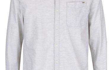 Krémová žíhaná slim košile Jack & Jones Vans