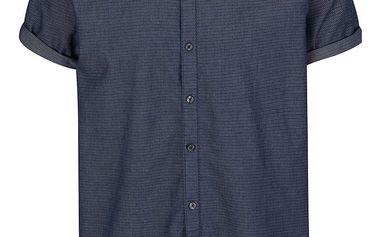 Šedomodrá košile s krátkým rukávem Burton Menswear London