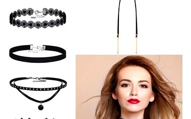 Sada dívčích náhrdelníků - 6 kusů - dodání do 2 dnů