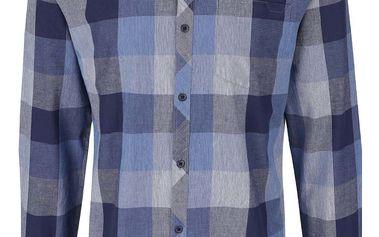 Černo-modrá kostkovaná košile Jack & Jones Smith
