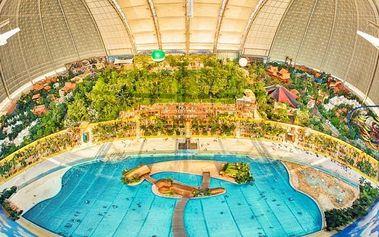 Aquapark Tropical Islands: 1denní výlet z Prahy pro 1 osobu včetně slevy na vstup
