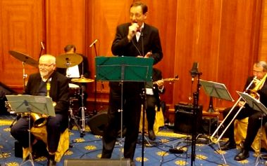 Vstupenka na Swing & Jazz koncert v hotelu International, skladby mnoha hudebních stylů aj.