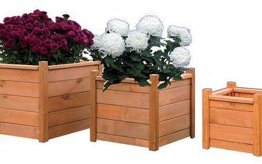Dřevěný dekorativní květináč 50 x 50 cm